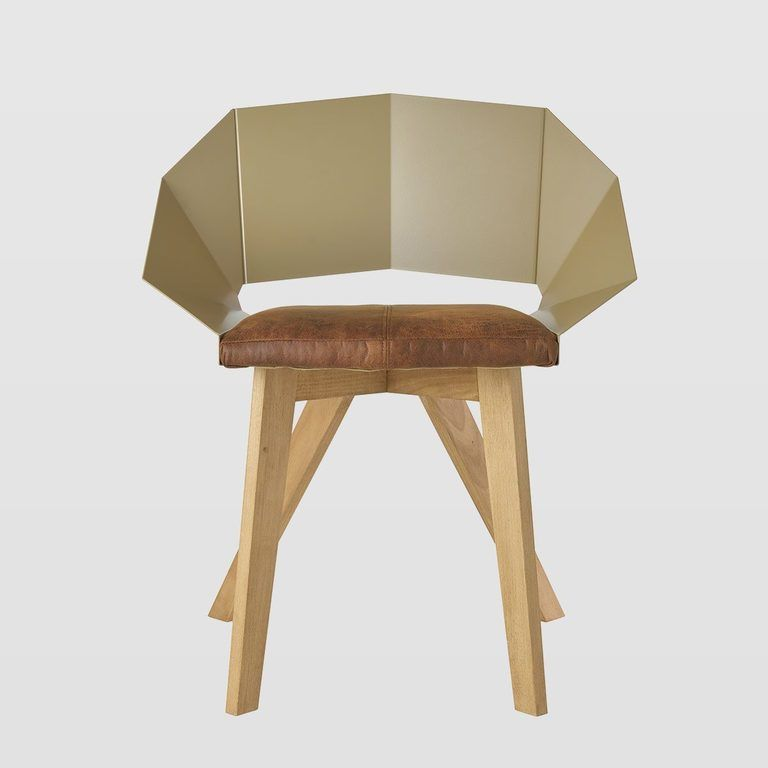 Krzesło KNIGHT na drewnianych nogach szampańsko brązowe FST0387 - Gie El