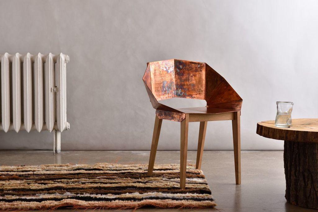 Gie El krzesła do jadalni krzesło miedziane KNIGHT FST0296 chair copper