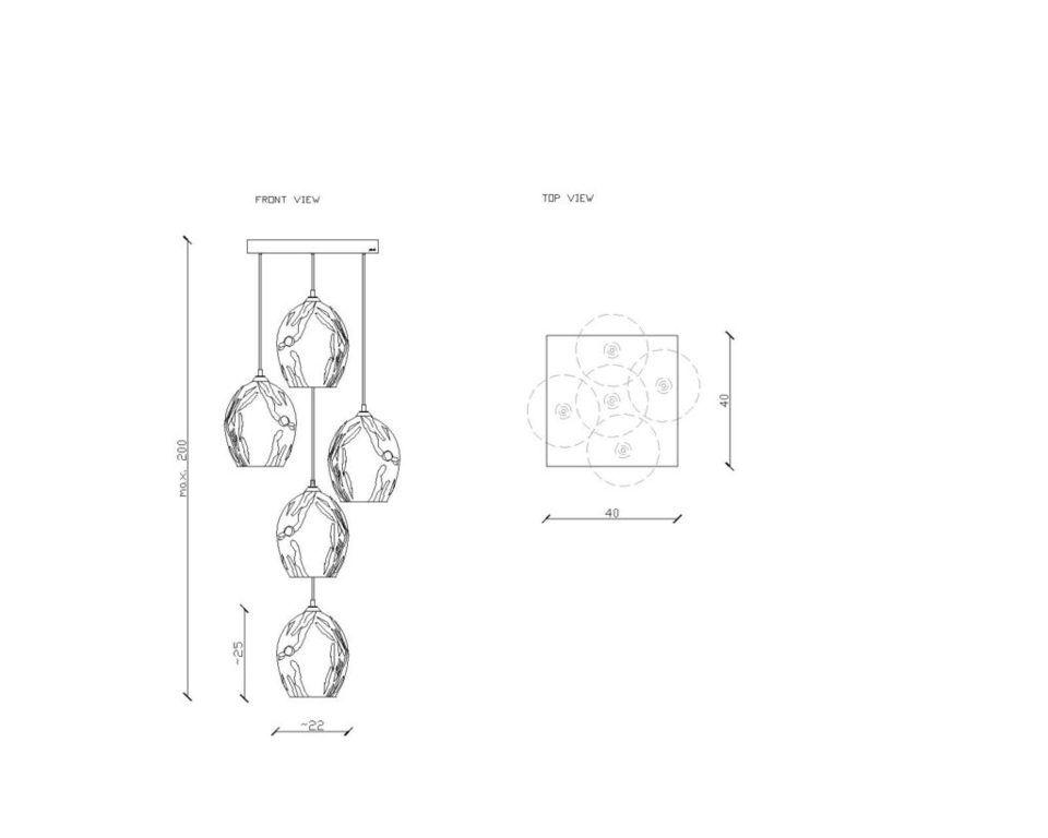 Żyrandol SPACE 5 LGH0720 - Gie El