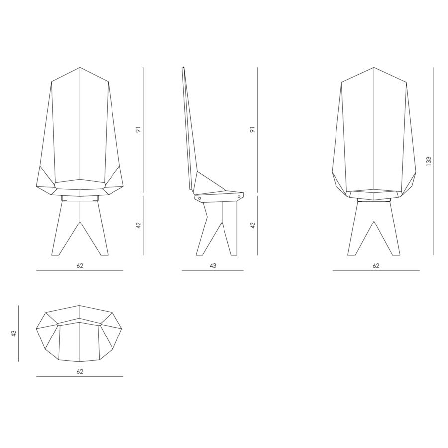 Krzesło Knight Throne FST0422 - Gie El